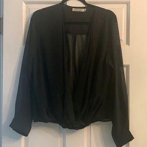 Black Classy Sheer blouse